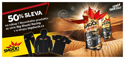19× 50% sleva do Big Shock! e-shopu